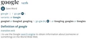 Google sõnaraamatus